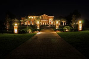 Landscape lighting installation in Temecula by residential electrical contractor.